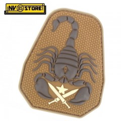 Patch in PVC US ARMY Scorpion Unit 10 x 8 cm Tan Militare Softair con Velcrogrip