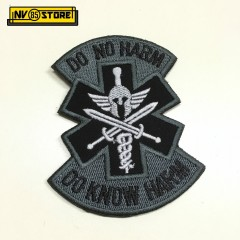 Patch Ricamata Corce Medica Medical HARM B Punisher 95 x 75mm Militare con Velcr