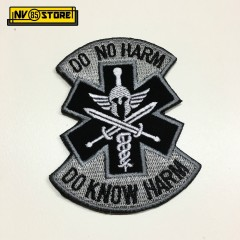 Patch Ricamata Corce Medica Medical HARM Punisher 95 x 75 mm Militare con Velcr