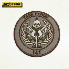 Patch Ricamata Teschio Call of Duty T Punisher Diametro 8 cm Militare con Velcr