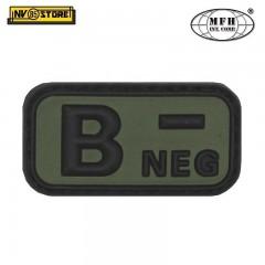 Patch in PVC B- MFH Verde 5 x 2,5cm Militare Softair Soccorso con Velcrogrip