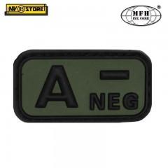 Patch in PVC A- MFH Verde 5 x 2,5cm Militare Softair Soccorso con Velcrogrip