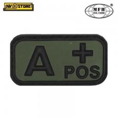 Patch in PVC A+ MFH Verde 5 x 2,5cm Militare Softair Soccorso con Velcrogrip