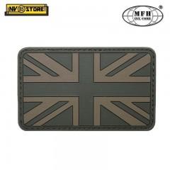 Patch PVC Bandiera UK Bassa Visibilità OD MFH 8x5cm Militare Softair con Velcrog