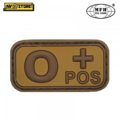 Patch in PVC 0+ MFH Beige/Tan 5 x 2,5cm Militare Softair Soccorso con Velcrogrip