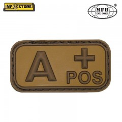 Patch in PVC A+ MFH Beige/Tan 5 x 2,5cm Militare Softair Soccorso con Velcrogrip