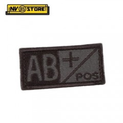 Patch Gruppo Sanguigno AB+ Pos cm 5x2,5 Militare Softair Soccorso con Velcrogrip