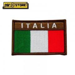 Patch Bassa Visibilità Bandiera Italiana ITALIA 8 x 5 Militare con Velcrogrip