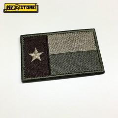Patch Ricamata Bandiera Texas Bassa Visibilità 8 x 5 cm Militare con Velcrogrip