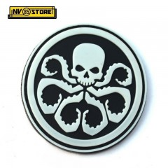 Patch PVC IDRA Polpo Punisher Teschio Piovra Militare Softair con Velcrogrip