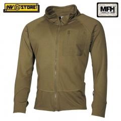 Maglia Felpa Termica Tattica MFH Underwear Level 2 GEN III Caccia Militare TAN