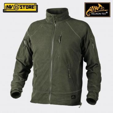 Felpa HELIKON-TEX Alpha Tactical Fleece Pile Caccia Softair Militare Outdoor OD