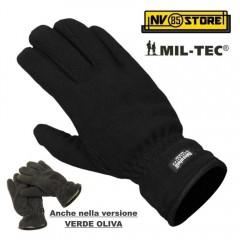 Guanti Invernali Neve MIL-TEC Nero Verde Imbottiti Thinsulate 3M Hunting Caccia