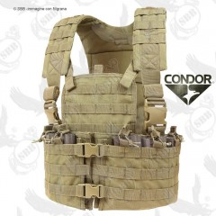 Gilet Tattico Combat Tactical Vest CONDOR USA Coyote Modulare Chest CS Softair