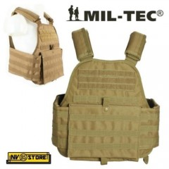 Gilet Tattico MILTEC Combat Tactical Vest Carrier Plate MOLLE Coyote Tan Softair