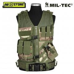Gilet Tattico MILTEC Combat Tactical Vest USMC Vegetato con Fondina Softair