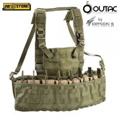 Gilet Combat Tattico Tactical Vest OUTAC by DEFCON 5 MOLLE RECON CHEST RIG Green
