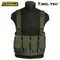 Gilet Tattico MILTEC Combat Tactical Vest Carrier Chest MOLLE Verde OD Softair