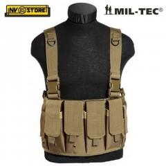 Gilet Tattico MILTEC Combat Tactical Vest Carrier Chest MOLLE Coyote Tan Softair