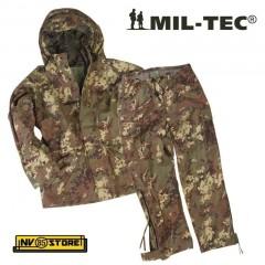 Completo IMPERMEABILE Parka + Pantaloni Trilamine MILTEC 3 Layer ECWCS Vegetato