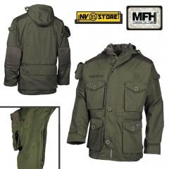 Giacca MFH Kommando OD Multitasche Vest Tattica Caccia Militare Softair Survivor
