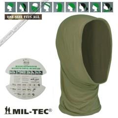 Multi Function HEADGEAR MIL-TEC Scaldacollo Multifunzione Passamontagna OD Oliv