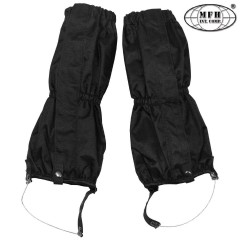 Set Ghette Impermeabili MFH Sopra Pantaloni Antistrappo Regolabili Nero Black
