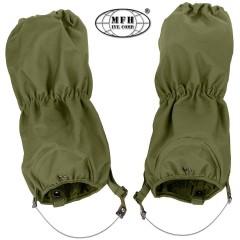 Set Ghette Impermeabili MFH Sopra Pantaloni Antistrappo Regolabili Verde OD