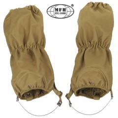 Set Ghette Impermeabili MFH Sopra Pantaloni Antistrappo Regolabili Coyote Tan