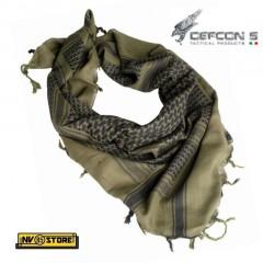 KEFIAH Israeliana Shafg Sciarpa Militare DEFCON 5 in Cotone 100% Traspirante OD