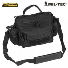BORSA TATTICA MILTEC TACTICAL PARACORD BAG LASER CUT SOFTAIR SURVIVOR CAMPING BK