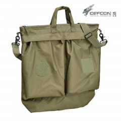 HELMET FLIGHT BAG DEFCON 5 VERDE PORTA ELMETTO PILOTI MILITARE SOFTAIR SURVIVOR