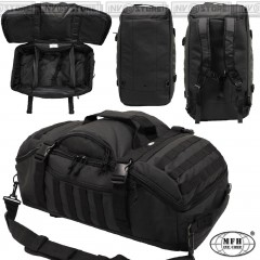 ZAINO TATTICO BORSONE TRACOLLA MFH 55 Litri BACKPACK MOLLE SOFTAIR SURVIVOR BK