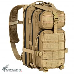 ZAINO TATTICO INCURSORE DEFCON 5 COYOTE TAN 35 LITRI SOFTAIR SURVIVOR CAMPING