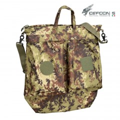 HELMET FLIGHT BAG DEFCON 5 VEGETATO PORTA ELMETTO PILOTI MILITARE SOFTAIR SURVIVOR