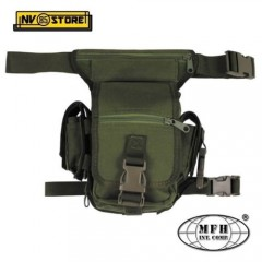 MARSUPIO COSCIALE MFH HIP BAG POLY 1000D MULTI PACK VERDE OD SOFTAIR CAMPING