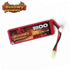 Batteria Lipo Litio BILLOWY POWER 7,4V 1800MH 20C per Fucili Softair Elettrici