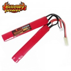 Batteria Lipo Litio BILLOWY POWER 7,4V 2000MH 20C per Fucili Softair Elettrici