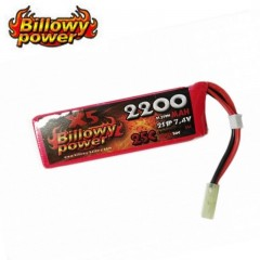 Batteria Lipo Litio BILLOWY POWER 7,4V 2200 MH 25C per Fucili Softair Elettrici