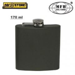 Fiaschetta Flask DeLuxe MFH Acciaio OD 170ml 6oz Ermetica Portaliquori Whisky