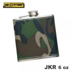 Fiaschetta Tascabile Flask Camouflage JKR Acciaio 170ml 6oz Portaliquori Whisky