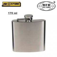Fiaschetta Flask DeLuxe MFH Acciaio INOX 170ml 6oz Ermetica Portaliquori Whisky