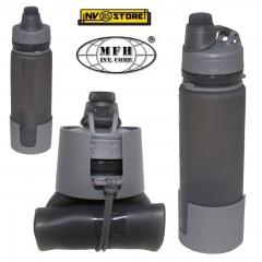 Bottiglia Borraccia in Silicone Bottle Pieghevole MFH 0,5 Litri BPA Ermetica