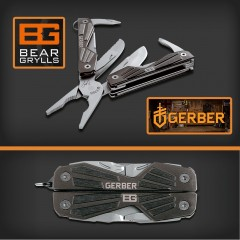 GERBER BEAR GRYLLS COMPACT MINI MULTI TOOL PINZA COLTELLO SURVIVOR MULTIFUNZIONE