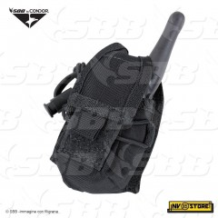 PORTA RADIO sistema MOLLE CONDOR HHR MA56 in Nylon 1000D SOFTAIR NERO BLACK