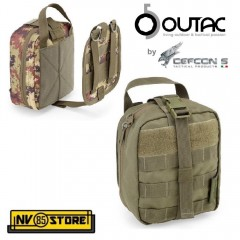 Tasca Utility M.O.L.L.E. QUICK RELEASE MEDICAL POUCH OUTAC by DEFCON 5 Green