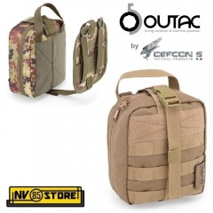 Tasca Utility M.O.L.L.E. QUICK RELEASE MEDICAL POUCH OUTAC by DEFCON 5 Coyote T