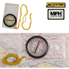 BUSSOLA PER CARTOGRAFIA RIGHELLO MILITARE MILITARY MAP COMPASS MFH SCOUT BOSCO