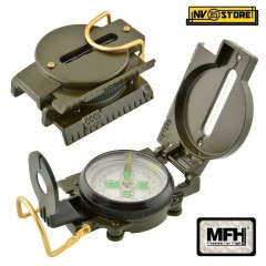 BUSSOLA MILITARE MILITARY COMPASS MFH MODELLO USA CORPO IN METALLO METAL BODY