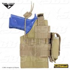 Fondina Pistola Universale CONDOR Ambidestra MOLLE per Gilet Tattico Cinturone C